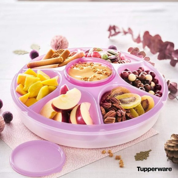 Tupperware Serving Center Set- Fairy Dust (Pink)